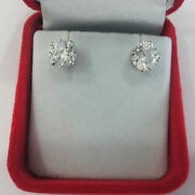 1 Ct Certified Diamond Earrings Stud Real 14k Solid White Gold Vs1 Special Offer