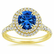 Fine 2.20 Ct Natural Diamond Gemstone Rings Solid 14 Kt Yellow Gold Round Cut