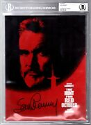 Sean Connery Signed Autographed The Hunt For Red October Program Bas Slabbed