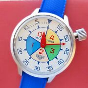 For Repair 1970s Heuer Yacht Timer Ref.503.512 Wrist Stopwatch Tag Sailing