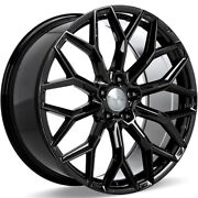 4 22 Staggered Ace Alloy Wheels Aff03 Gloss Piano Black Rimsb42