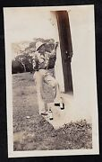 Antique Photograph Military Man In Uniform Standing On Steps With Liquor Bottles