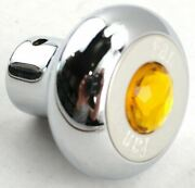 Gg Deluxe Fan Knob Chrome Amber Jewel Stainless Steel Plaque Block Letter 95690