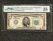1928a 5 Fed Res Note [] Philadelphia [] Rare Star [] 1 Of 10 Known Fr. 1951-c