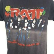 Ratt T Shirt Vintage 80s 1985 Happy New Year Tour Made In Usa Size Medium