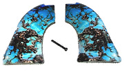 Fits Heritage Arms Rough Rider Grips .22 And .22 Mag Blue Turquoise Smooth Finish