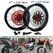 17 3.5/4.25 Complete Front And Rear Wheels Set For Crf250r/x Crf450r/x 2004-2013