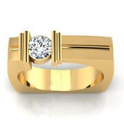 Real 14k Yellow Gold 0.47 Ct Natural Engagement Mens Rings Wedding Band 9 8 11 7