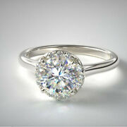Christmas Sale 0.90 Ct Natural Diamond Ring Solid 14k White Gold Size 5 6 7 9