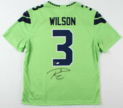 Autographed Russell Wilson Seahawks Jersey - Psa Coa And Wilson Hologram