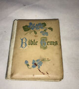 Vintage Mini Bible Gems Book Copyright 1589 Colored And Illustrated