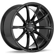 4 20 Staggered Ace Alloy Wheels Aff05 Gloss Piano Black Rimsb43