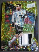 Messi /5 Jersey Card Panini 1/1 Vip Prizm 2018 Treble Obsidian Immaculate Soccer