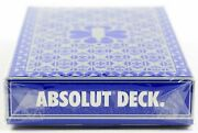 1 Deck Absolut Vodka Playing Cards New Sealed In Box