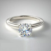 Christmas Sale 0.70 Ct Real Diamond Wedding Ring Solid 18k White Gold Size 5 6 7