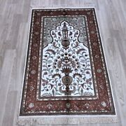 Yilong 2.5and039x4and039 Handwoven Silk Bedroom Area Rug Home Decor Oriental Carpet 081b