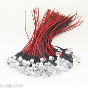 1000x Transparent 5mm Led In Red/yellow/blue/green Light W/10cm Wire W/resistor