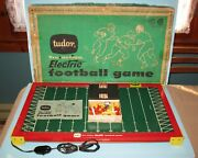 Vintage 1961 Tudor Tru-action Electric Football Game And Box Free Shipping