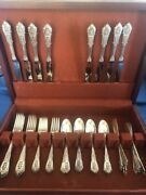 Wallace Rose Point C1934 Sterling Service For Eight 48 Pcs