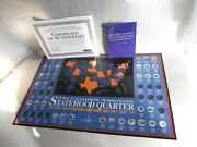 35 Out Of 50 Color Painted State Quarters With Collectors Book Map And Coa B