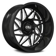 Cali Off-road Gemini 9113 24x14 8x165.1 Et-76 Black/milled Spokes Qty Of 4