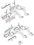 Genuine Audi A8 Exhaust Manifold Right Front Cylinders 1-3 07p253020kx