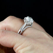 2.50 Ct Thanksgiving Diamond Engagement Rings Solid 14k White Gold Size 6 7 8 9