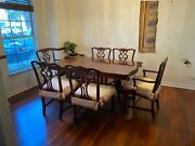 Duncan Phyfe 1930 -1940 Dinette Set With Hutch And 6 Chairs Original