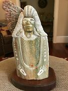 28 Stone Carving Of An Indian Masterpiece Carving Signed Franklin Foster