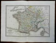 France In Departments French Republic 1854 Lapie Large Folio Map
