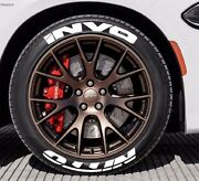 Tire Letters - Nitto Invo - 1.25 For 14 15 16 Wheels 8 Stickers Permanent