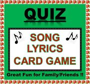 And039song Lyricsand039 Pub Quiz Trivia Card Game Table Fun Families/friends/zoom Etc.