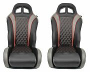 Pair Of Red Carbon Edition Bucket Seats For 2017 Polaris Rzr Seats 1000/turbo