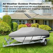 11/16/22ft Trailerable Durable Fishing Bass Boat Cover Waterproof Beam V-hull