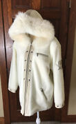 Rare M. Miller Thinsulate Ski Jacket Suede Trim Fur Hooded Embroidery