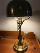 Historical Art Deco Antique Brass Lamp Signed Chateau Frontenac 1893 Mb240