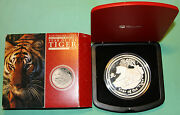 2010 Australia Lunar 1 Kilo Silver Proof Year Of The Tiger Mintage Of 500
