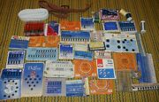 Lot Of Antique Vintage Sewing Kits Hooks Snaps Loops + Delong Clifton ++