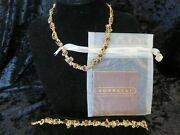 Sorrelli Goldtone Necklace And Bracelet With Tiger's Eye Stones, Rare And Gorgeous