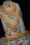 Indian Bollywood Gold Plated Kasu Necklace Earring Haram Kamar Patta Hip Jewelry