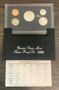 1995 Us United States Mint Silver Proof Set - 5 Coins W/ Box And Coa Ps23
