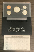 1995 Us United States Mint Silver Proof Set - 5 Coins W/ Box And Coa Ps24
