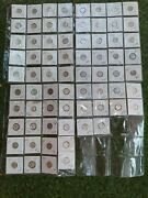 70 Mercury Dimes In Holders And Plastic Sheets