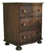 Beautifully Restored Antique Three-drawer Night Stand With Brass Hardware