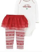 Carters Baby My First Christmas Outfit Red/white 3 Months