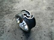 Menand039s Handmade Nomad Ring 925 Sterling Silver Size 20