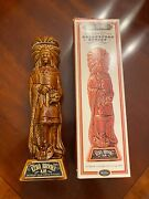 Vintage Ezra Brooks Whiskey Decanter Cigar Store Indian Chief 1968 With Box