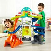 Race Track Fits Little People Cars Toddler Play Set With Loop 2 Cars Included