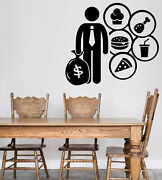 Wall Vinyl Decal Jobs Occupations Careers Food Culinary Cafe Cleaner N1381