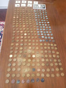 Collection Lot Of 290 Usa Lincoln Wheat Pennies And Steel Cents 1943, 1909 - 2009